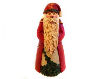 Santa, Hand Carved Santa, Wooden Santa, Santa Collectible, Heirloom Santa