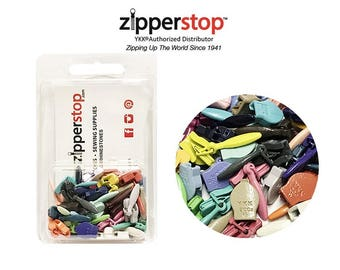Zipper Repair Kit Solution YKK #2ccu Zipper Heads - Sliders Pulls #2cuu (Invisible Style) Assorted Colors - package Clamshell Box W/HANGER