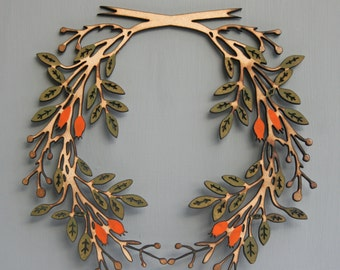 Large wooden hedgrow wreath design No2