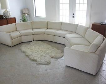 Bernhardt 'Flair' Octagonal Sectional Sofa in Cream