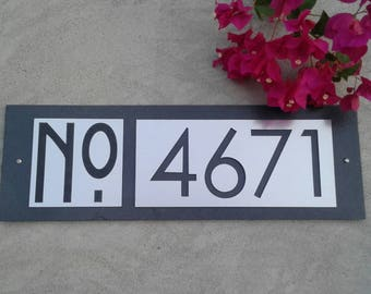 Mid Century Modern House Numbers Address Plaque