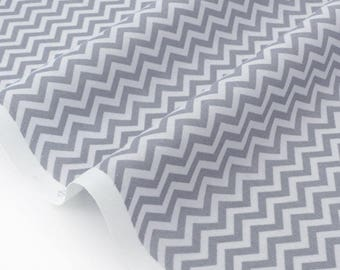 Fabric American chevron zigzag grey x 50cm