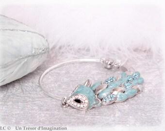 Bracelet semi stiff blue Fox