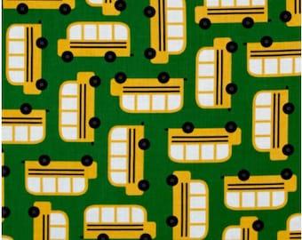 Back to School 2 Bus Cotton Fabric  -  Robert Kaufman Fabrics - Ann Kelle Designs - Kids Fabric - Quilting