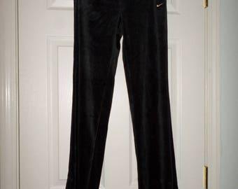 90s Nike Jogging pants Track Pants  Black Small 4-6 Petite NWT Old Stock  28 waist