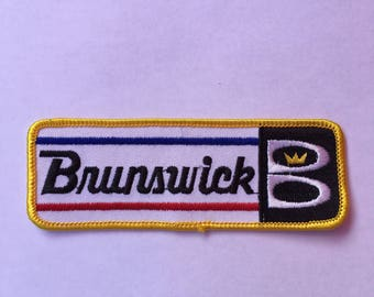 BRUNSWICK B BOWLING Logo Patch L@@K Bowling Teams Sports CROWN