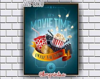 Movie, Cinema,Film, Hollywood decor,wall art