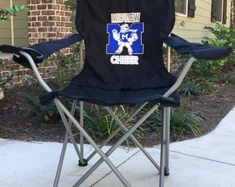 Monogrammed Chair, Coaches Gift, Custom Folding Camp Chair, RV chair, Tailgating Chair, Sports Team Chair, Personalized Chairs