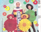 Lifesaver Candy Costume McCallls 9560 UNCUT Sewing Pattern Kids Halloween Costume
