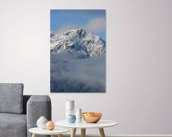 Snow Covered Mountain Top, Fine wall art, Prints, Canvas, Metal. Poster