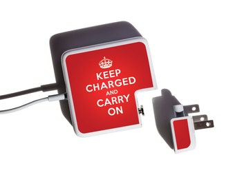 Multipack Charger Decals for iPhone, iPad & Apple Laptop Chargers - Keep Charged Design - Perfect gift for college students