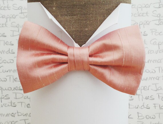 Bow tie, bow ties, blush pink bow tie, wedding bow tie, silk bow tie, pre tied or self tie bow tie