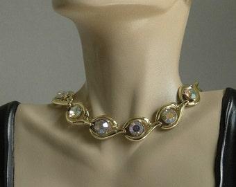 Vintage Crystal Rhinestone Necklace