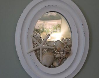 Starfish and Seashell mirror