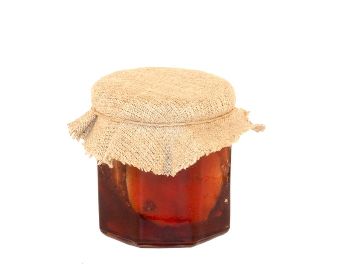 Honey with Lemon Slices and Elderberries