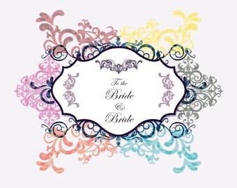 Bride to Bride Congratulations Wedding Card