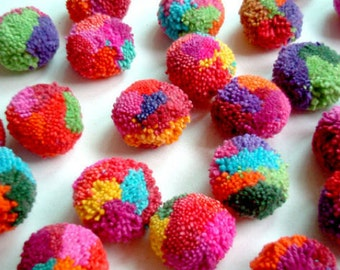 "1"" Cotton POM POMS, Multi Colored Fluffy Pompoms, Handmade Craft Supplies,Pom Pom Ball, Round Wool Pom Pom, Party Decor Art Supplies   50+"