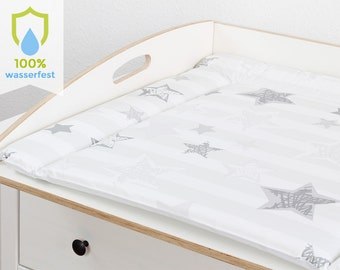 Changing pad 77 x 73 cm changing mat for 80 cm Ikea chest of drawers free from pollutants and washable stars Grey White