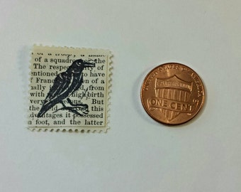 Raven Relief-Printed Artistamp/faux postage stamp