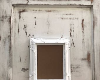 Picture Frame, 8x10, Shabby Chic, French Country, Baroque, Vintage Style, Bright White, Ornate, Wedding, Home, Nursery Wall Decor