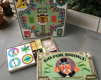 Vintage 1965 Go For Broke  Board Game by Selchow and Richter