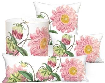 Pink Dahlia Flower Square or Rectangular Pillow Cover - Pillow - 12x18 12x20 14x20 14x26 16x24 16x26 16x 18x 20x 22x 24x 26x 28x