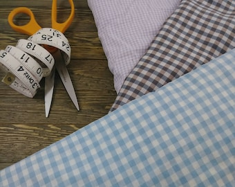 Vintage Fabric- Cotton Gingham Print by the yard