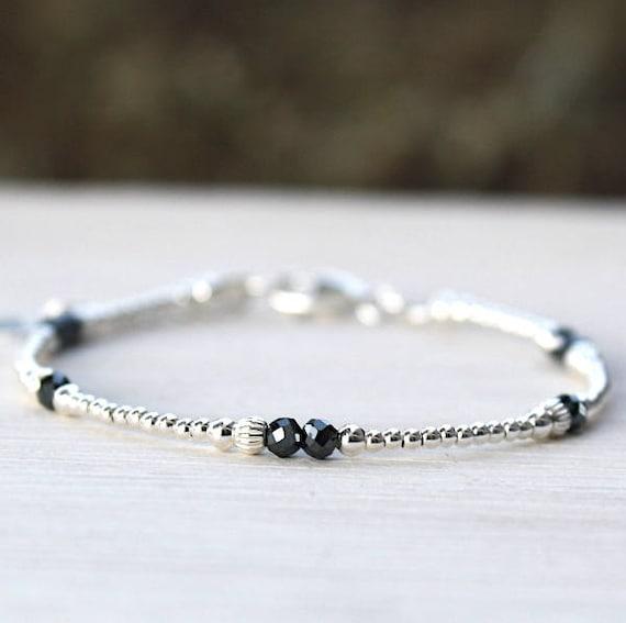 Women bracelet 925 Silver beads and hematite