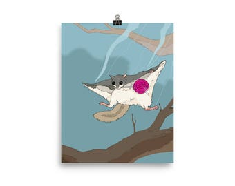 Lollipop Getaway (Flying Squirrel ) Poster