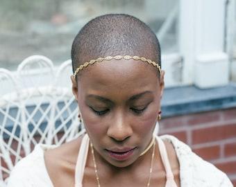 Dara Headpiece - Bridal celtic knot crown - art nouveau circlet victorian hairpiece reign tiara renaissance pagan hair chain- to MEASURE