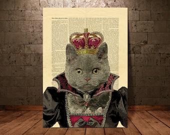 Cat Art Wall Hanging ,Cat Art Print, Cat Wall Art Print, Cat Print, Cat Illustration, Cat Decor , Cat Poster(40)