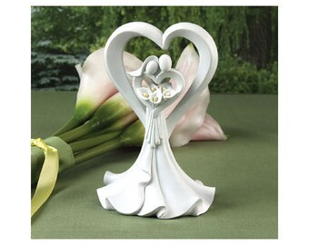 Calla Lily Bride and Groom Wedding Cake Toppers Baking Supplies