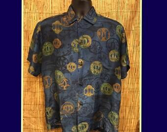 Vintage 1950s/60s Silk Hawaiian Shirt