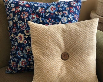 Set of 4 Decorative Handmade Throw Pillows