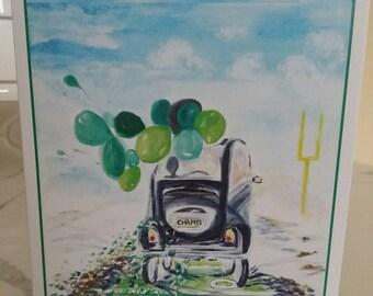 Road to Victory Original Watercolor Print Greeting Card