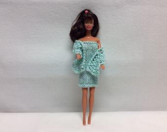 Knit evening wear for Barbie