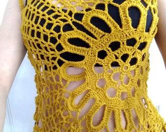 Crochet Blouse, crochet blouse for women crocheted