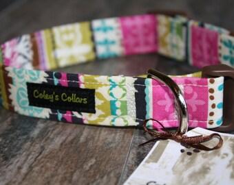 """Damask Stripe Dog Collar, Dog Collars, Custom Dog Collar, Dog Collar, Girl Dog Collar, Boy Dog Collar, Modern Dog Collar, """"The Julianna"""""""