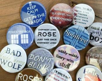 "Doctor Who magnets 1.25"" / 32mm fridge magnets"