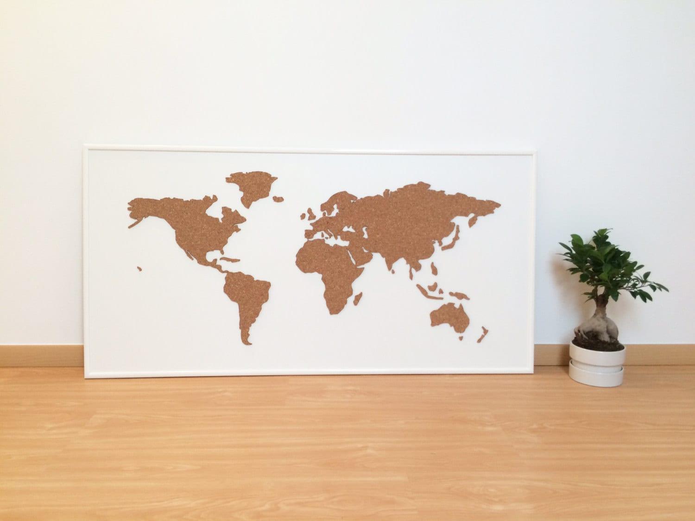 Cork board world map white zoom gumiabroncs Choice Image