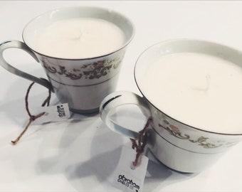 Green Tea + Lemongrass Tea Cup Candle