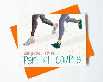 Couple congratulations card - fit/ fitness enthusiast couple