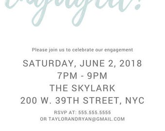 Weddings/Engagement/Party - Taylor Engagement Party Invitation