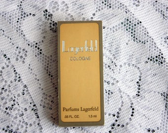 Lagerfeld Perfums Lagerfeld  Perfume Sample, Men's Cologne Sample, Vintage Lagerfeld Cologne Sample, Lagerfeld Karl Lagerfeld Fragrance