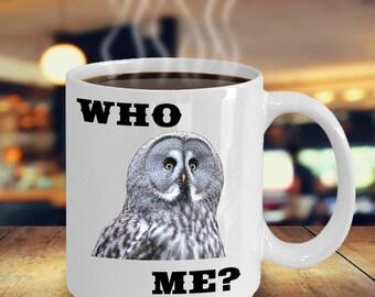 Who Me Owl Coffee Mug