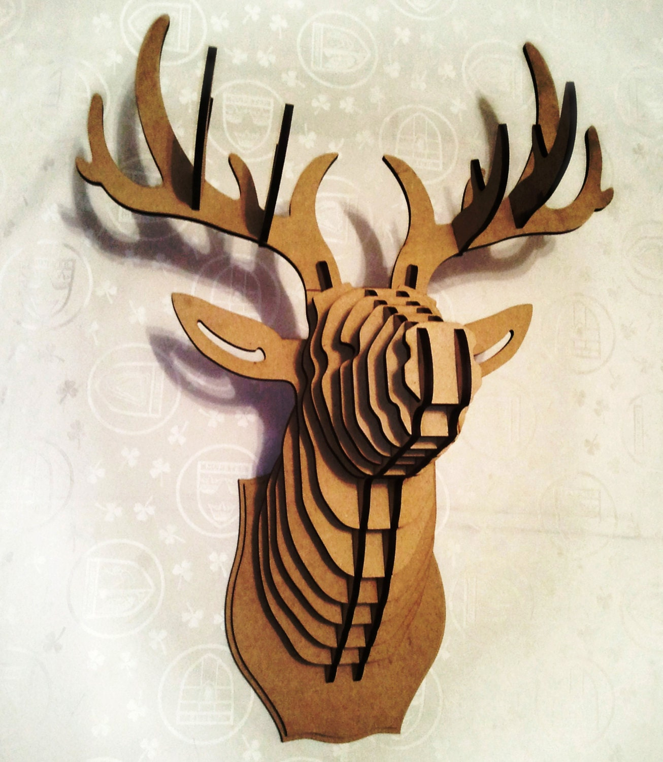 Deer head 3d puzzle animal head cardboard animal head mdf deer zoom mozeypictures Gallery