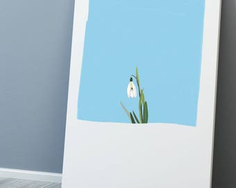 Little Snowdrop A4/A3 Print