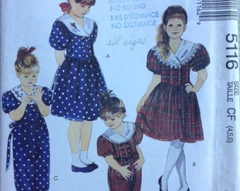 Little girl fancy dress, jumpsuit and headband McCalls pattern