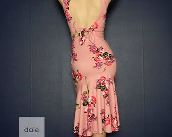 Venezia(sleeveless) - CP007 Vintage pink floral