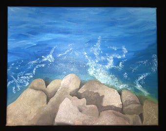 Rocks and Water painting